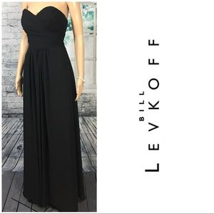 Black Strapless Evening Dress By BILL LEVKOFF